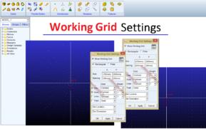 تنظیمات Working grid 3