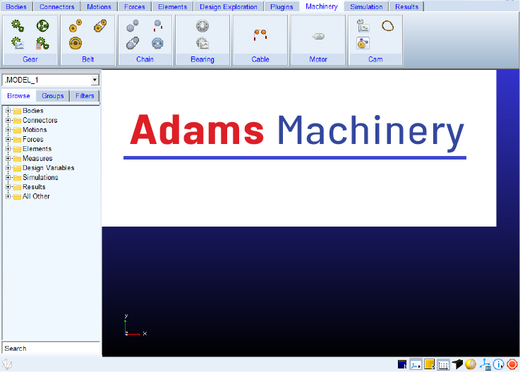 معرفی ابزار Adams Machinery